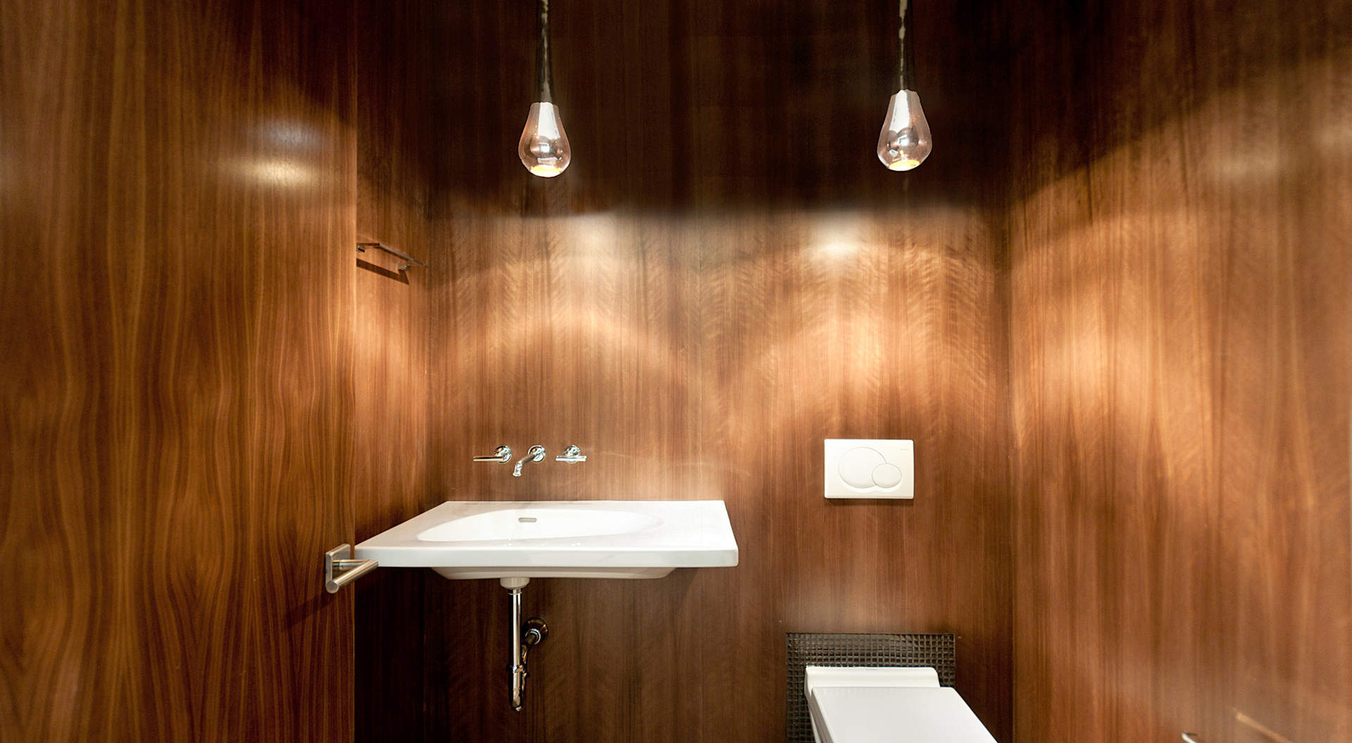 Gorgeous Paneled Powder Room