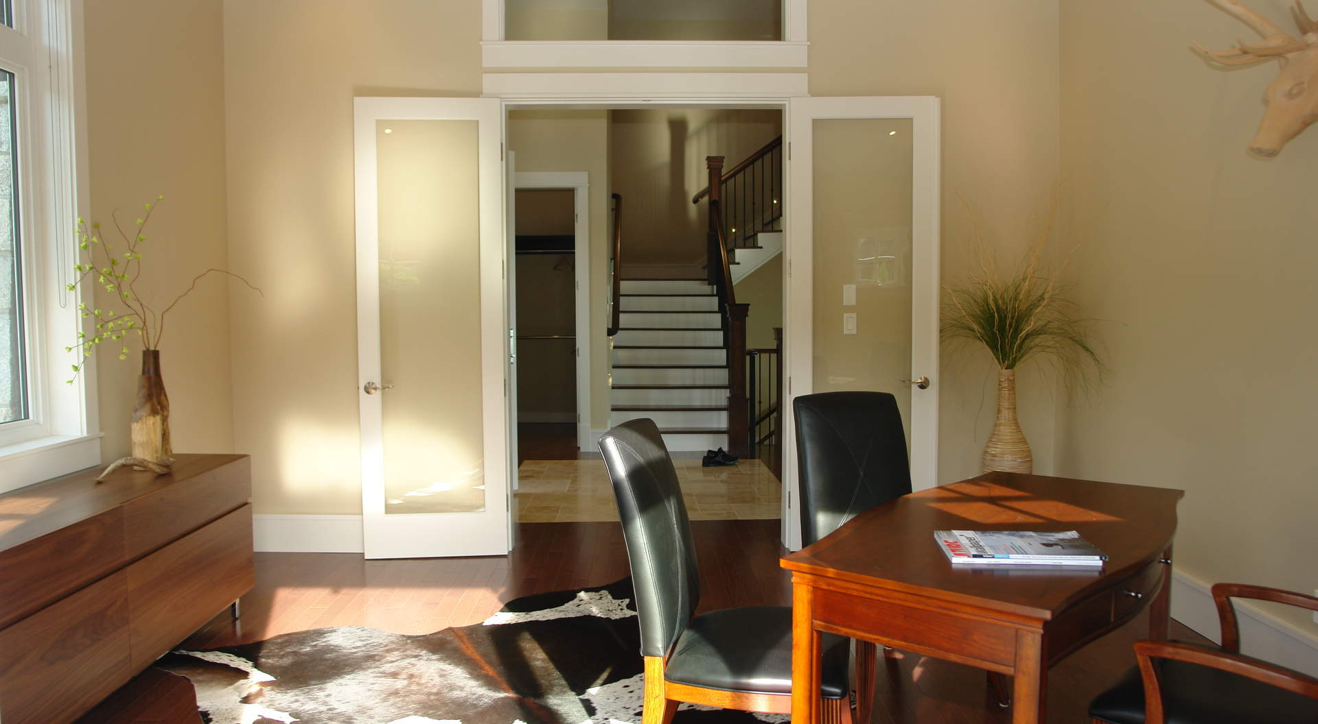 Private Office with French Doors to a Private Courtyard Patio