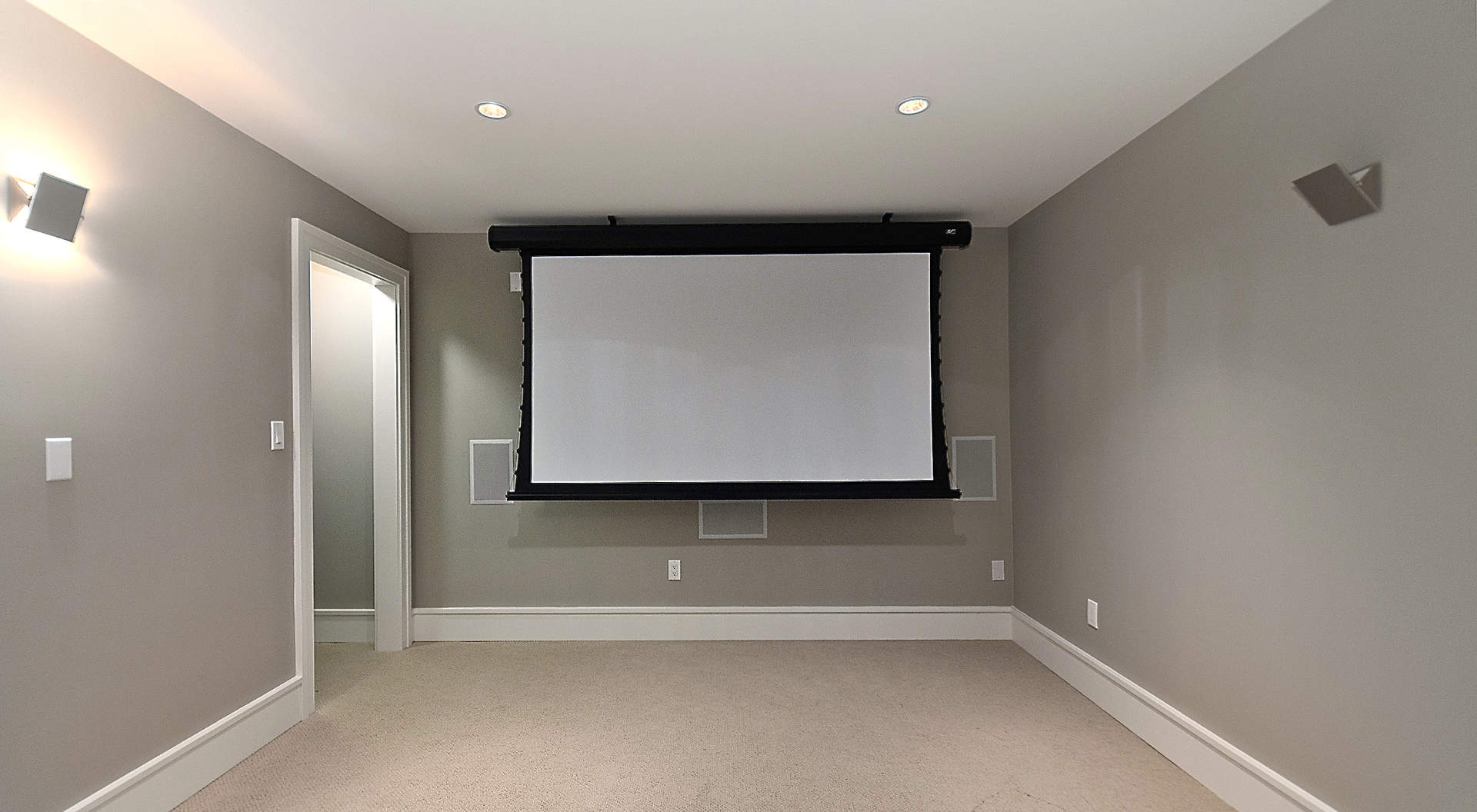 Home Theater with Surround Sound System