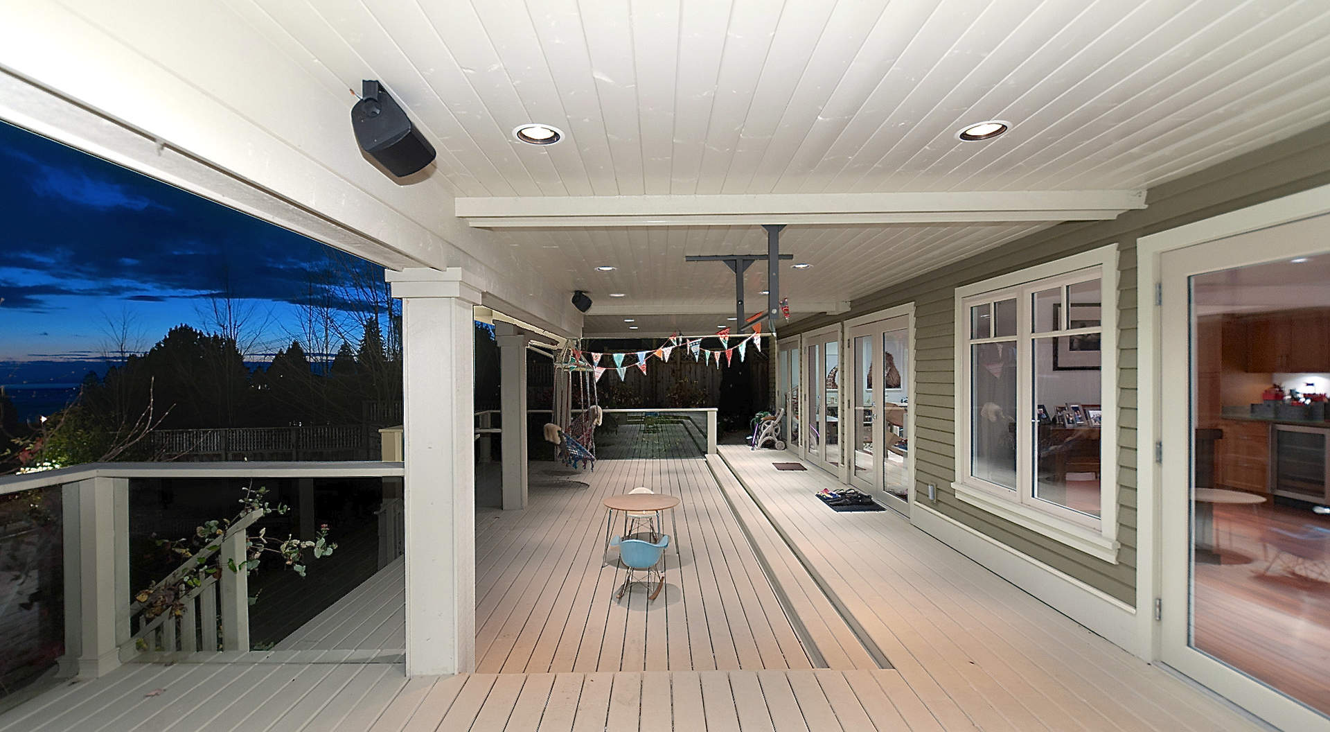 Large Covered Deck Downstairs