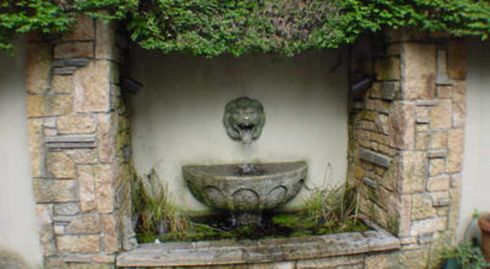 Trickling Fountain in Courtyard