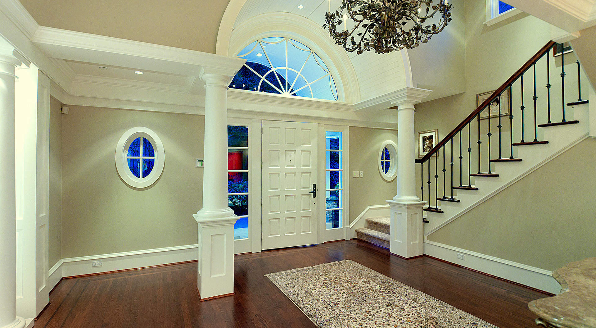 Main Entry with Double Height Ceilings