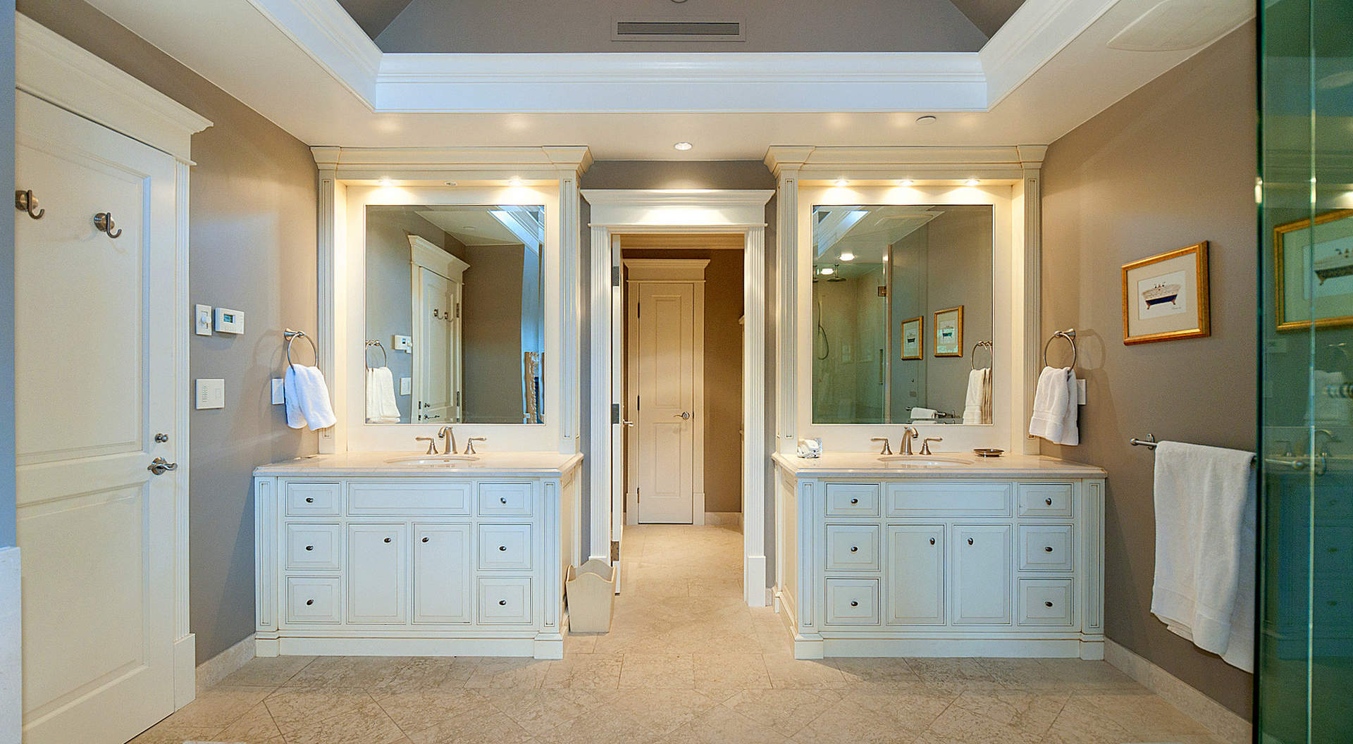 Spa-like Master Ensuite with His/ Hers Vanities