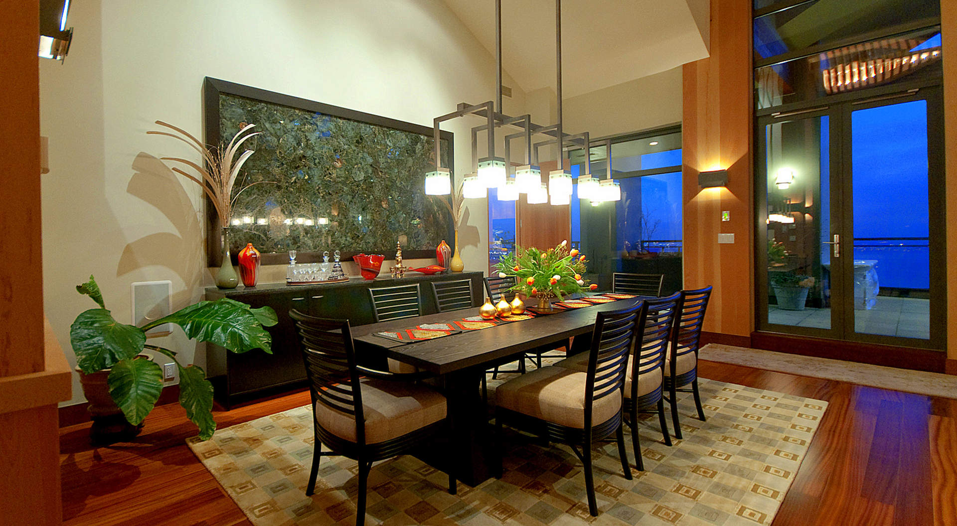 Dramatic Dining Area