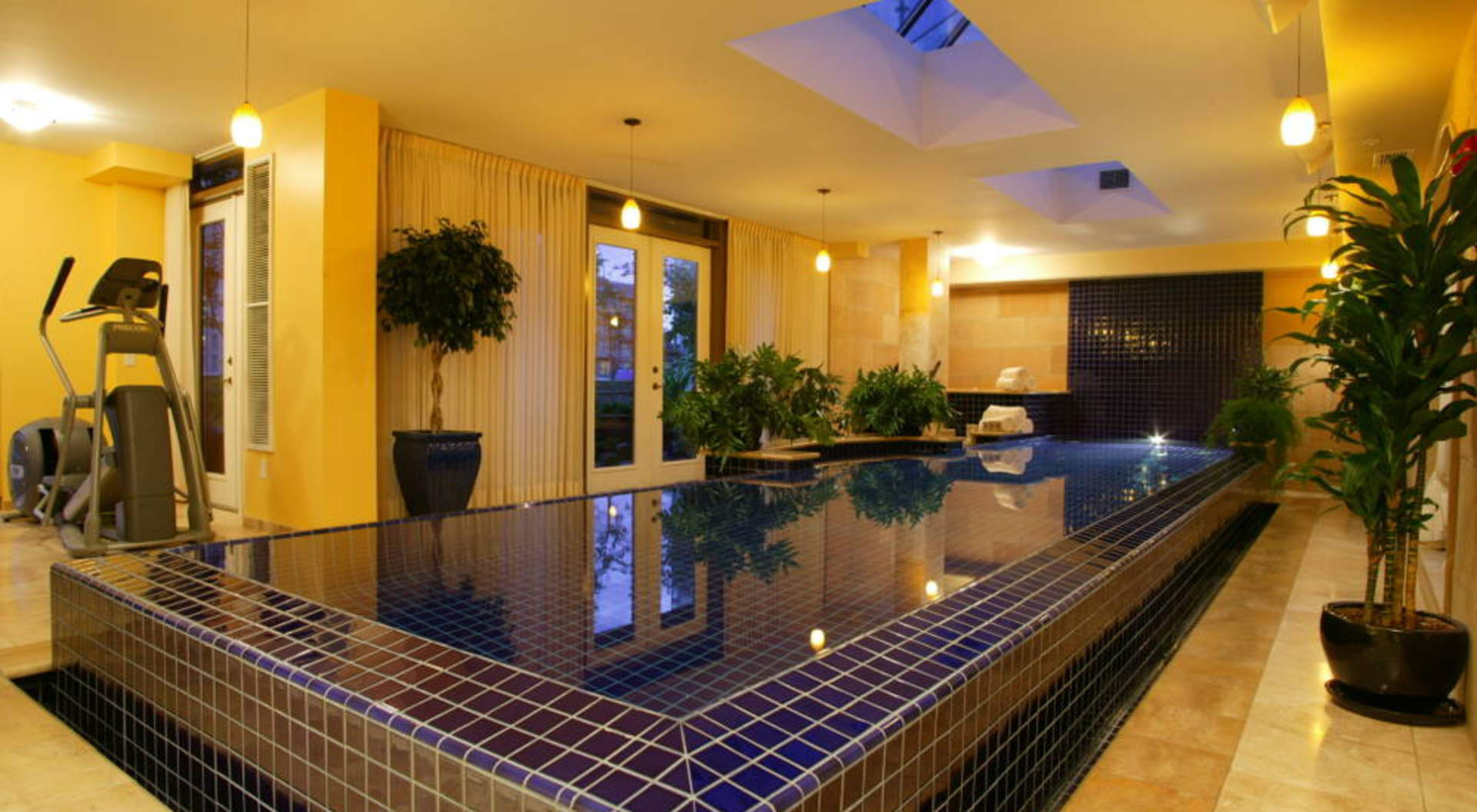 Sparkling Indoor Pool & Hot Tub