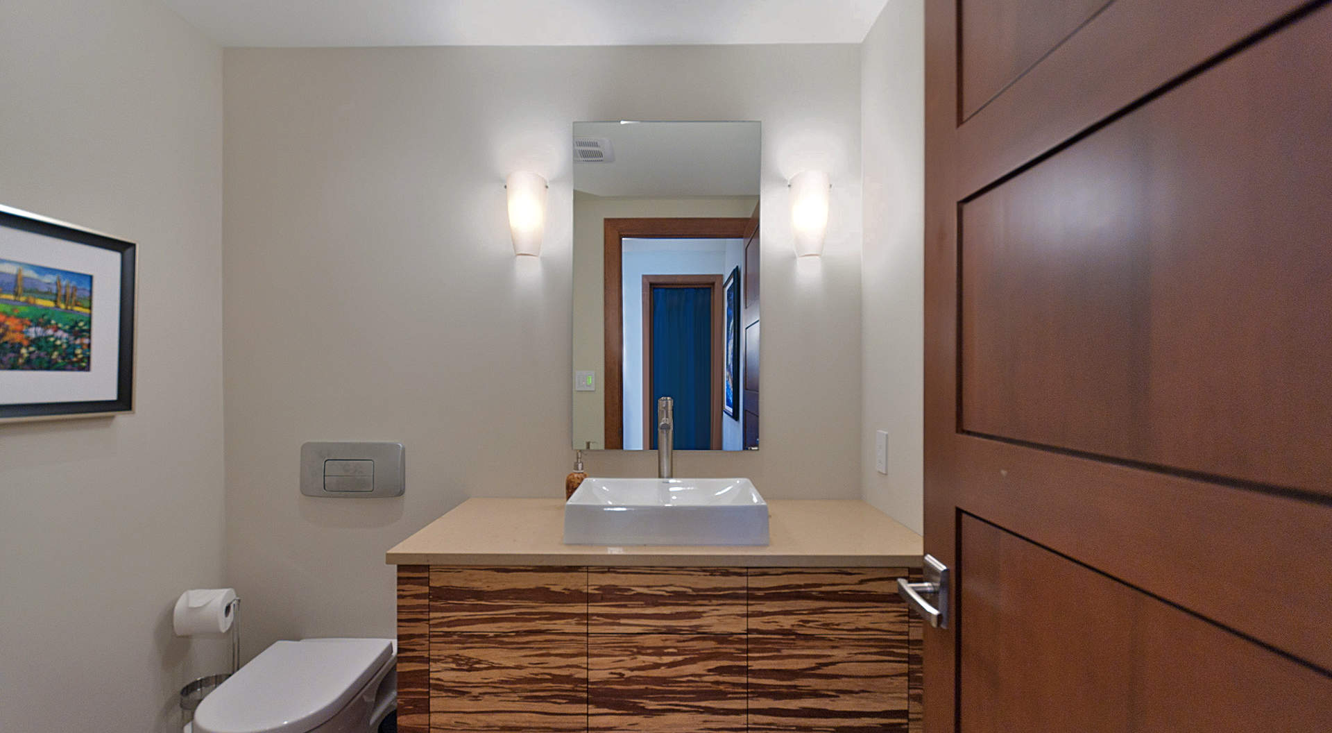 Guest Bathroom with Custom Cabinetry