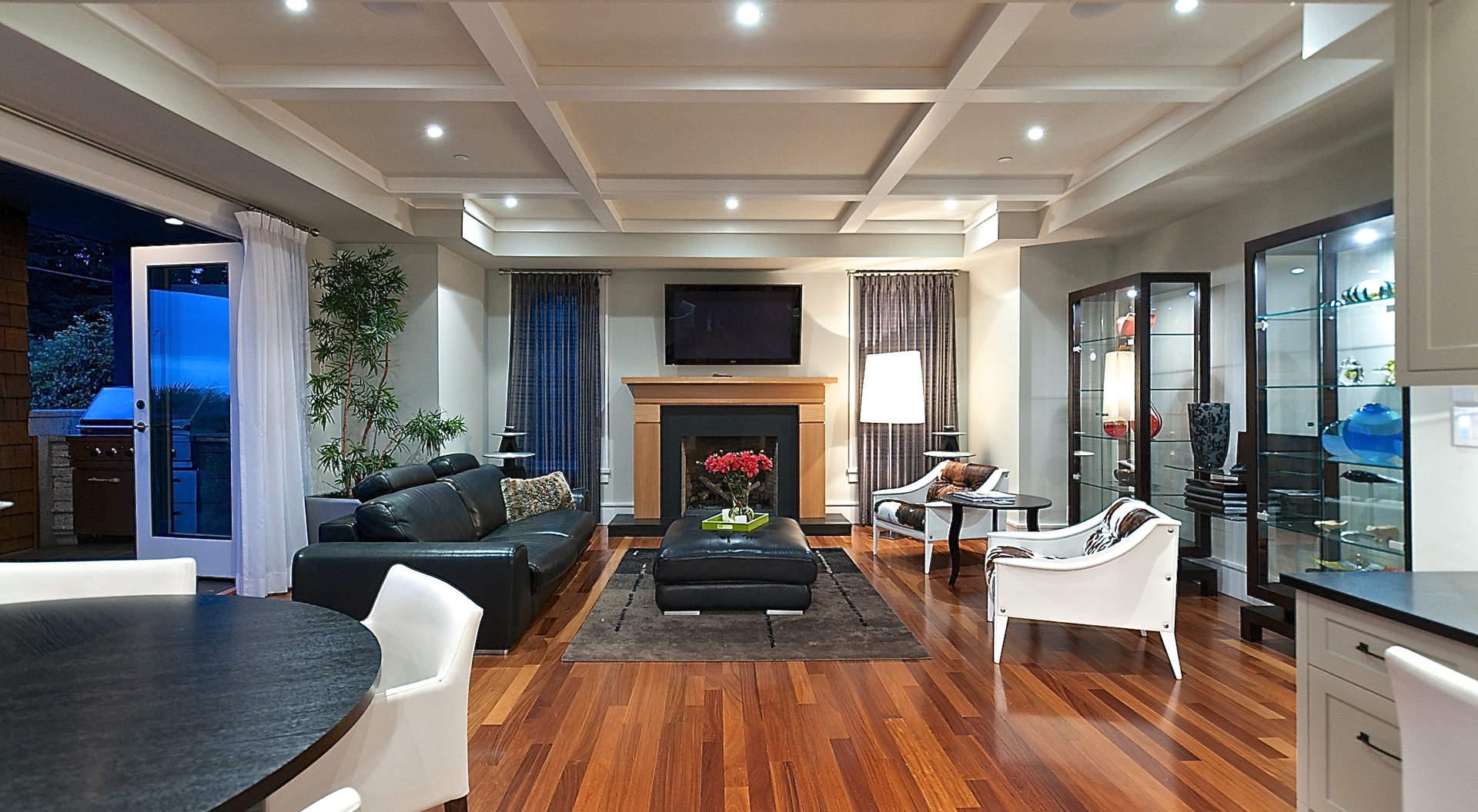 "An Adjoining Family Room with ""Eclipse"" Doors"