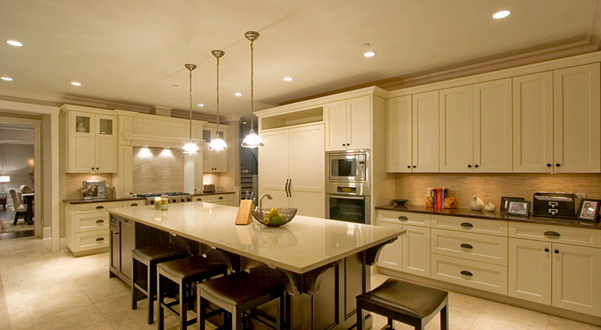 Custom Gourmet Kitchen with Center Island