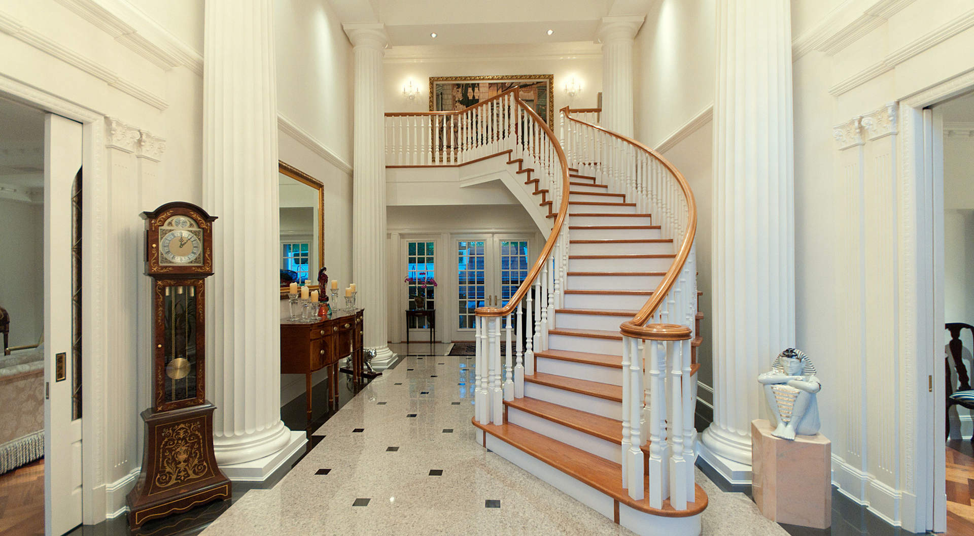 An Elegant Double Height Foyer