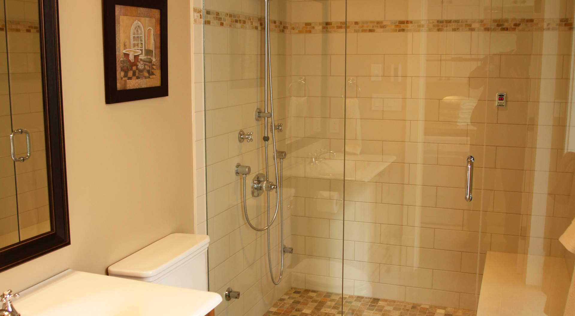 Steam Shower and Spa Bathroom