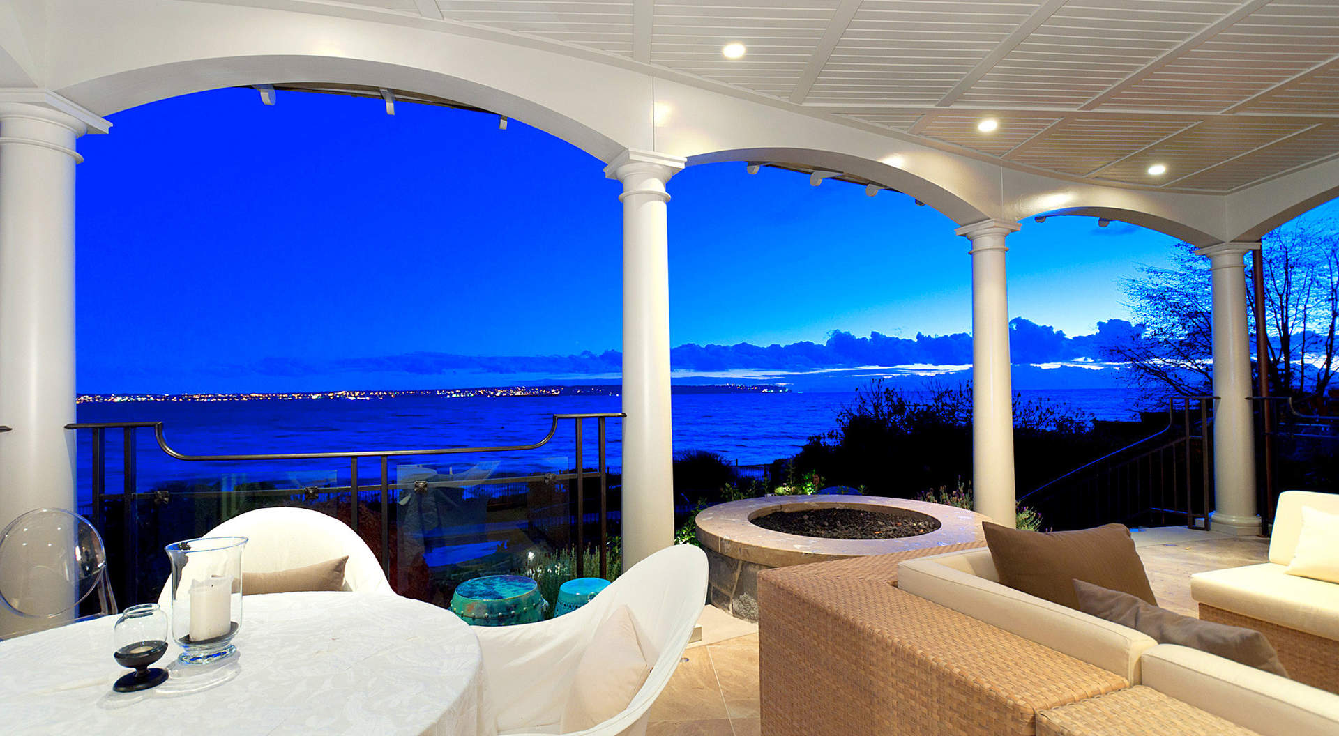 Covered Terrace with Stunning Views