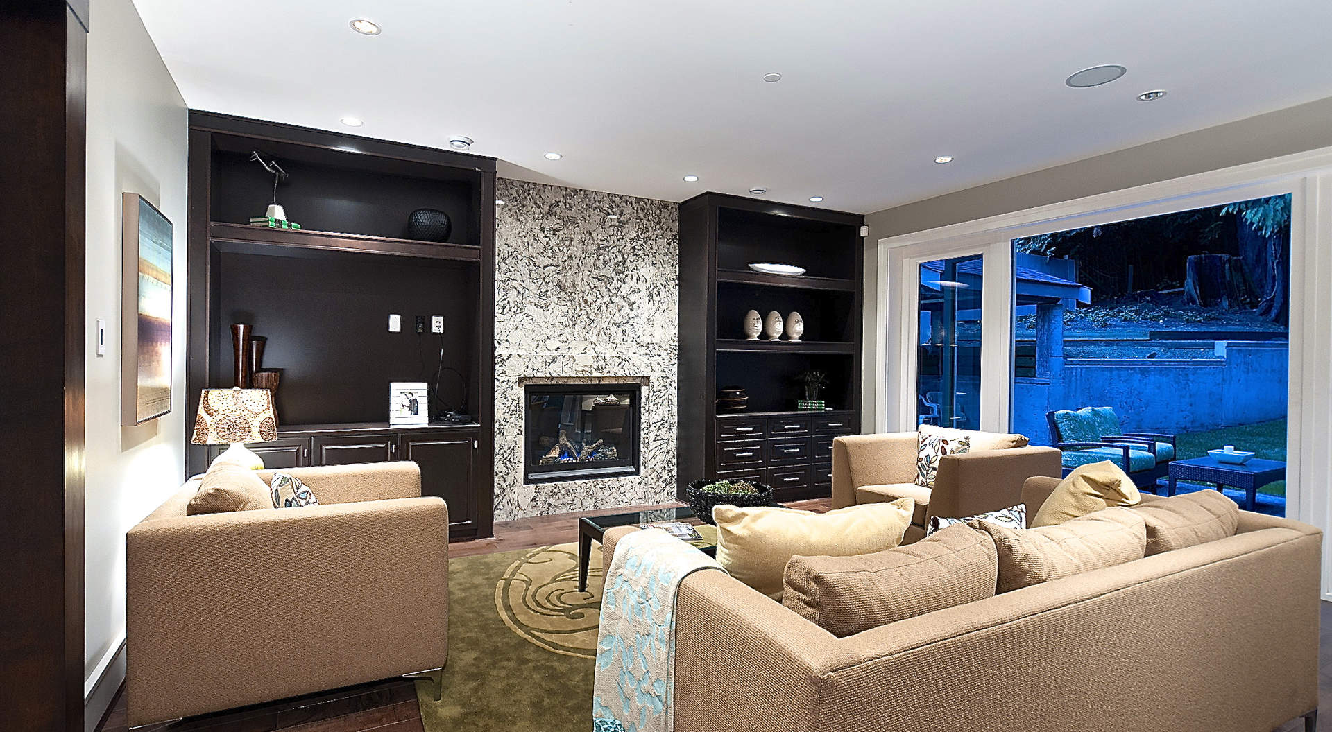 Adjoining Family Room with Media Center