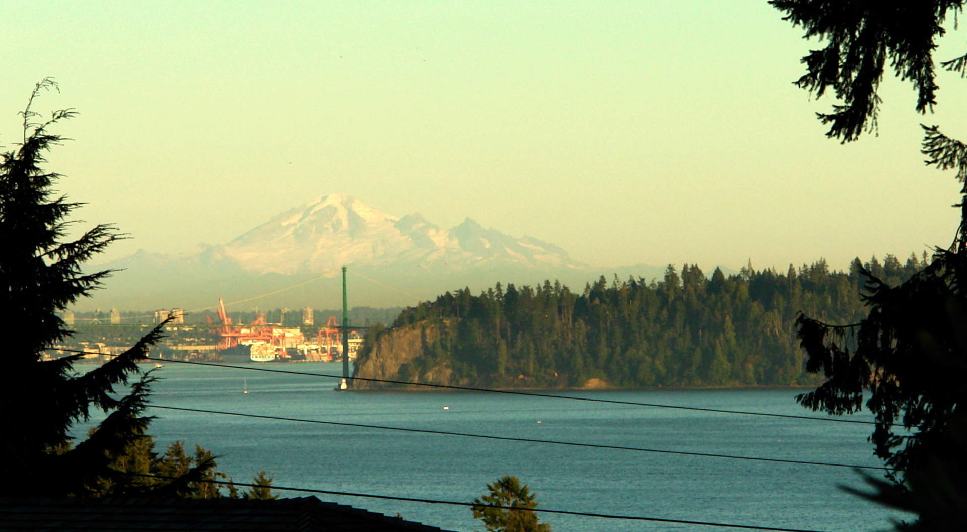 Views to Mount Baker, Stanley Park, and Vancouver's Inner Harbour