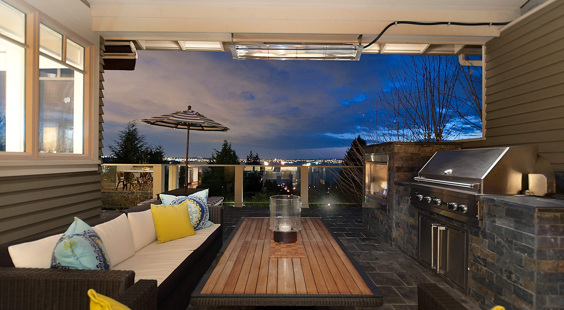 Sensational Outdoor Entertainment Area with Fireplace & BBQ Center