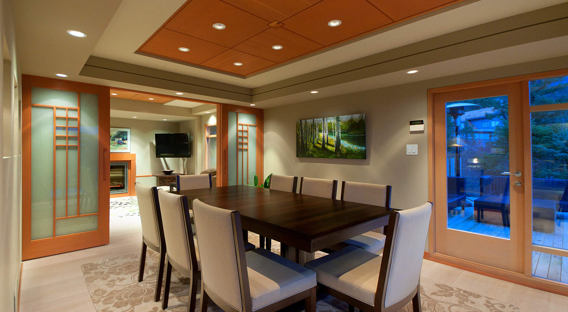 Fabulous Dining Room with Architectural Ceiling Detail