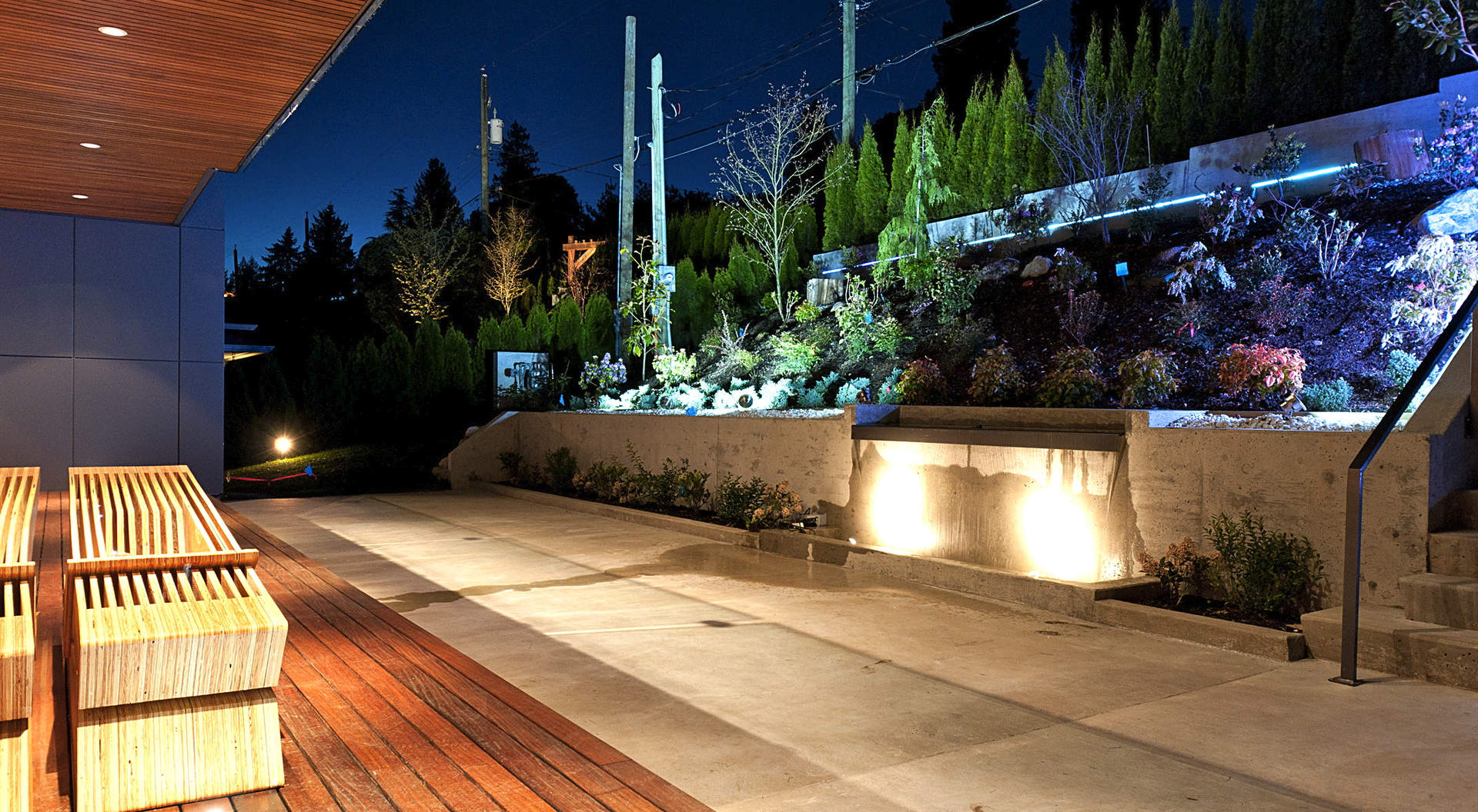 Stunning Gardens with Full Irrigation & Illumination Through-out