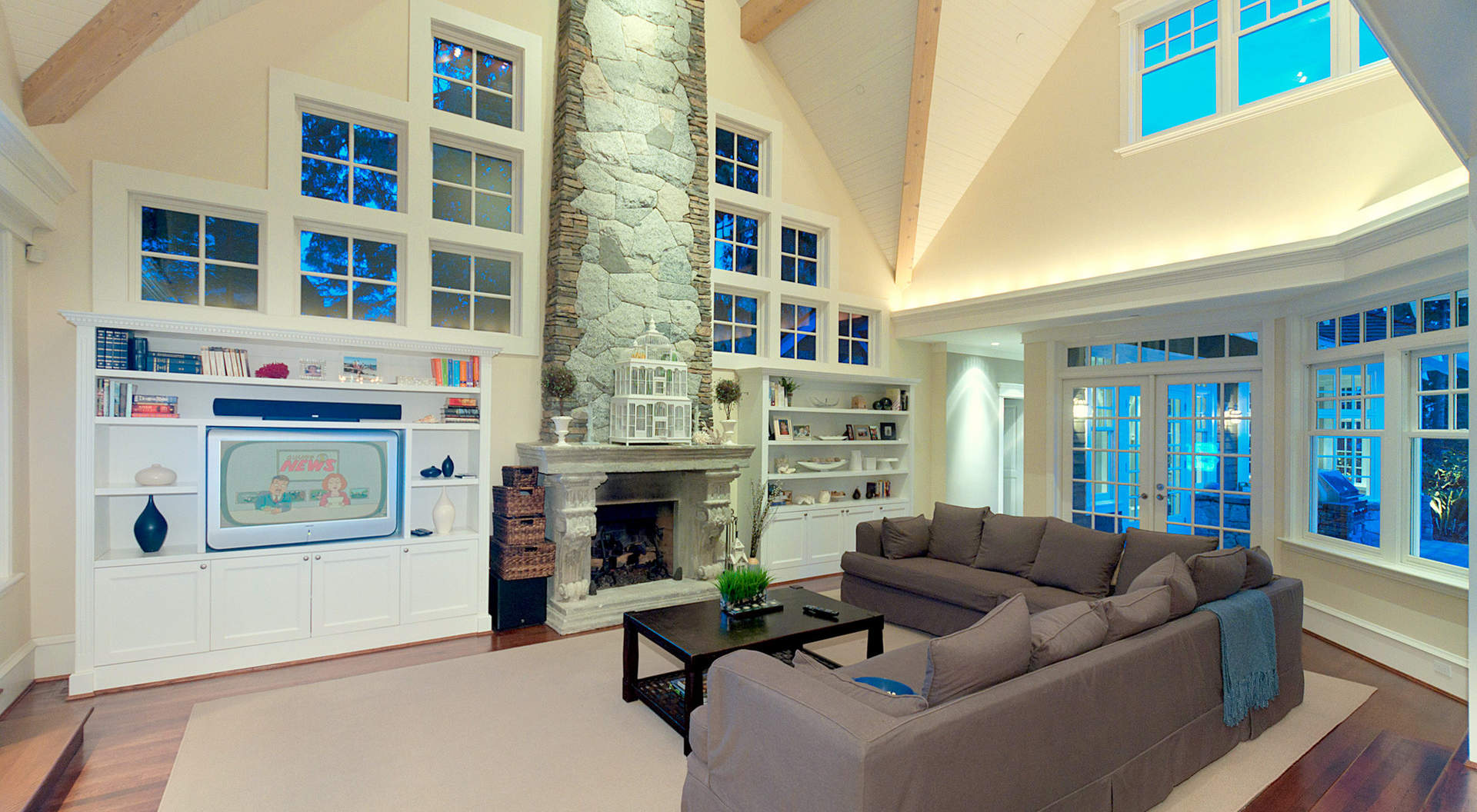 Gorgeous Family with Large Picture Windows & Roaring Signature Fireplace
