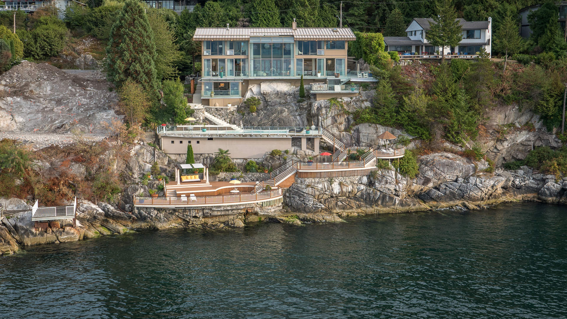 Spectacular Contemporary Waterfront with Stunning Oceanviews!