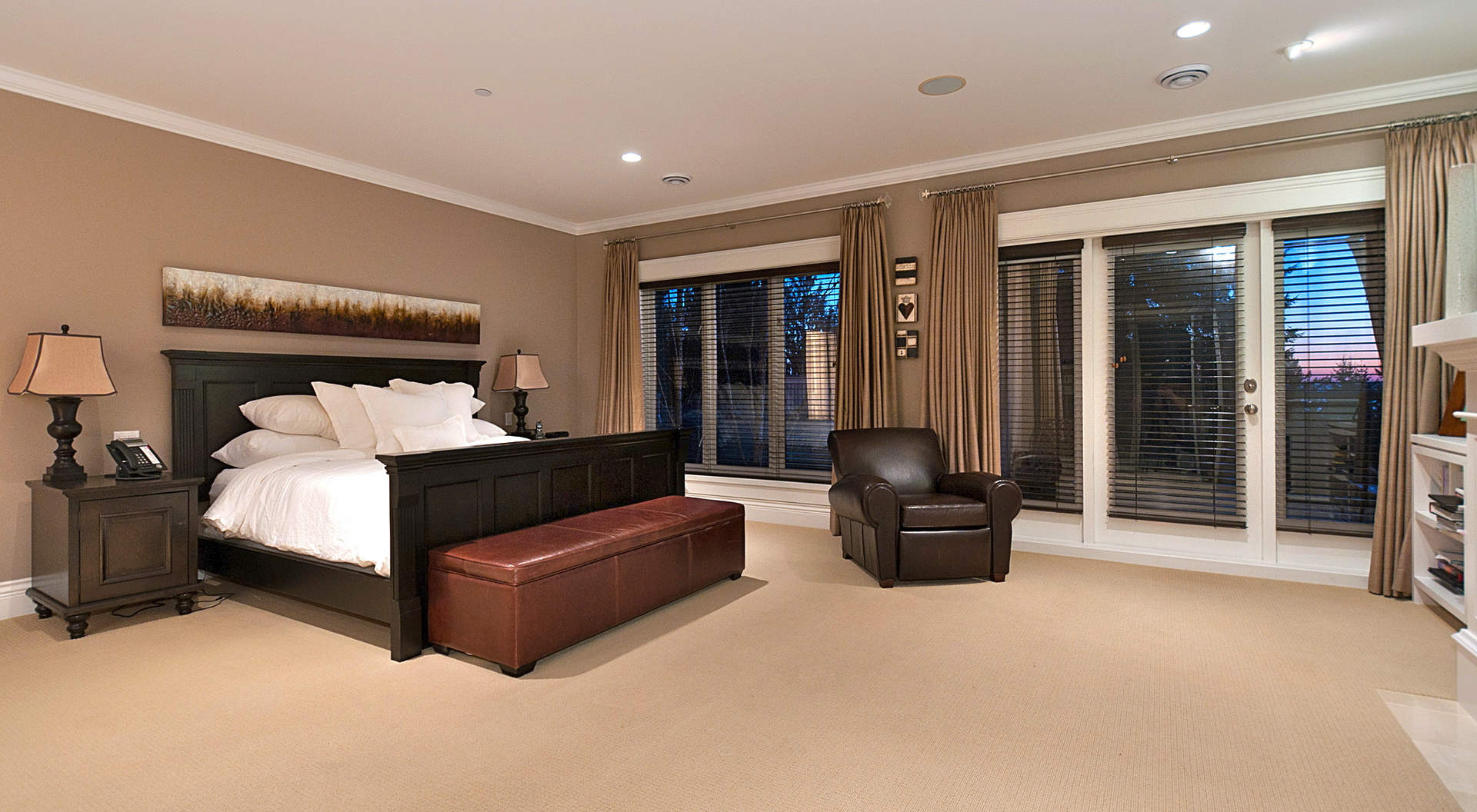 Spacious Master Bedroom with Separate Sitting Area