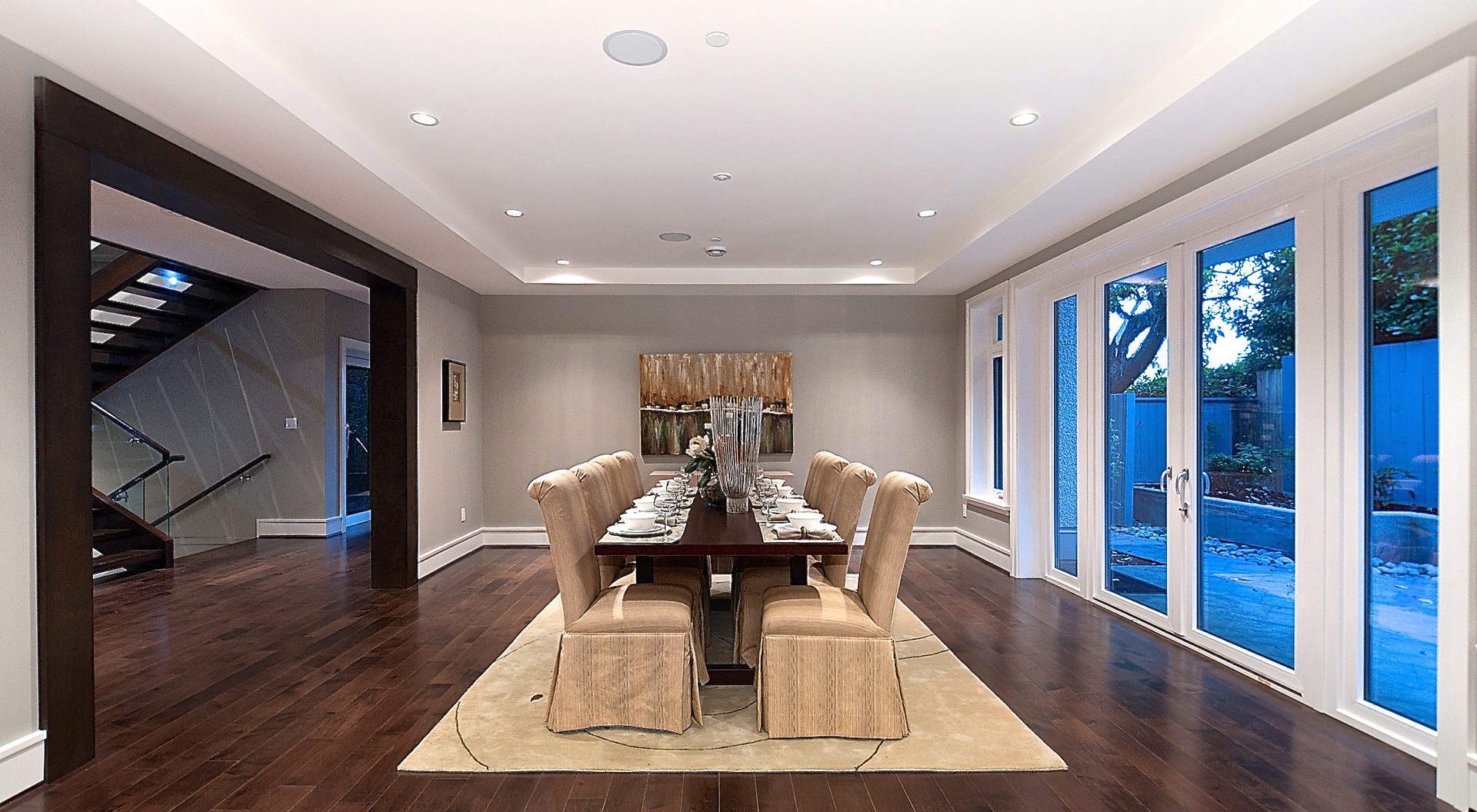 Spacious Dining Area with Large Picture Windows