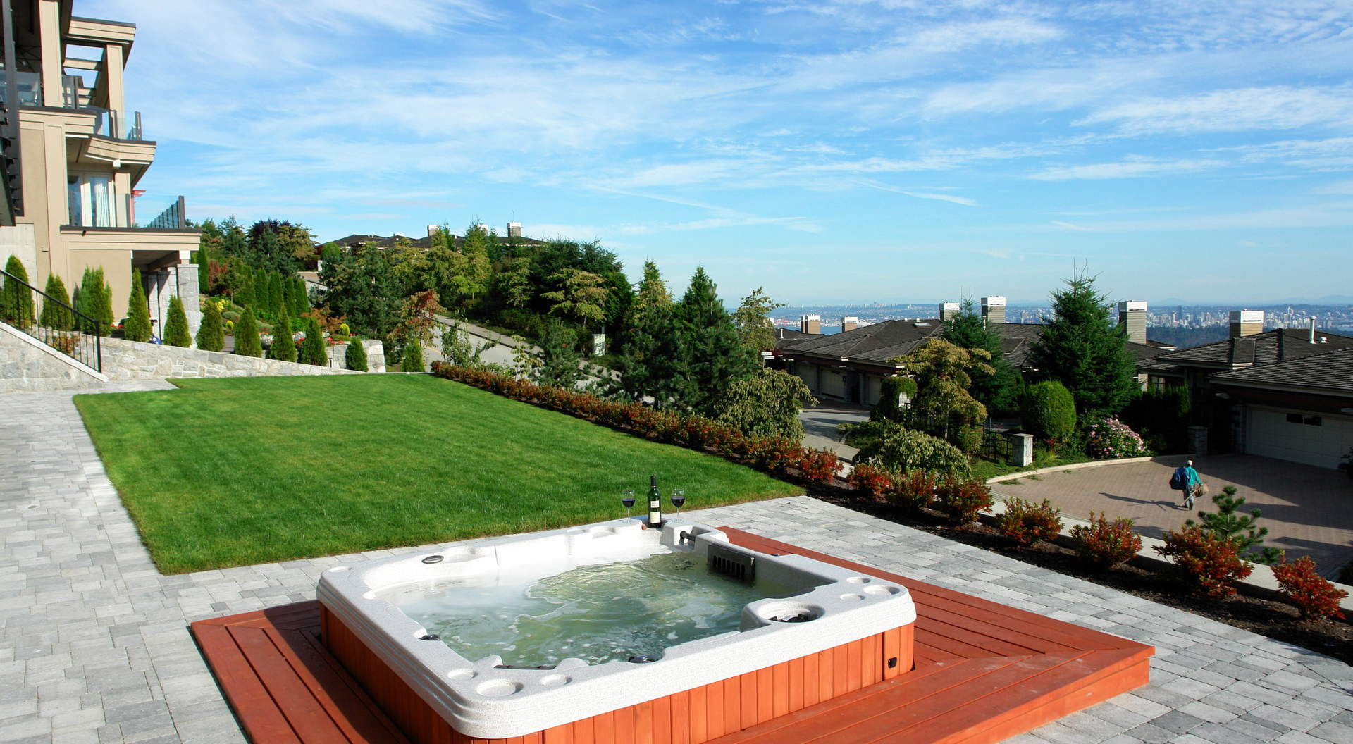 Sensational Level Yard with Bubbling Hot Tub and Spectacular Oceanviews
