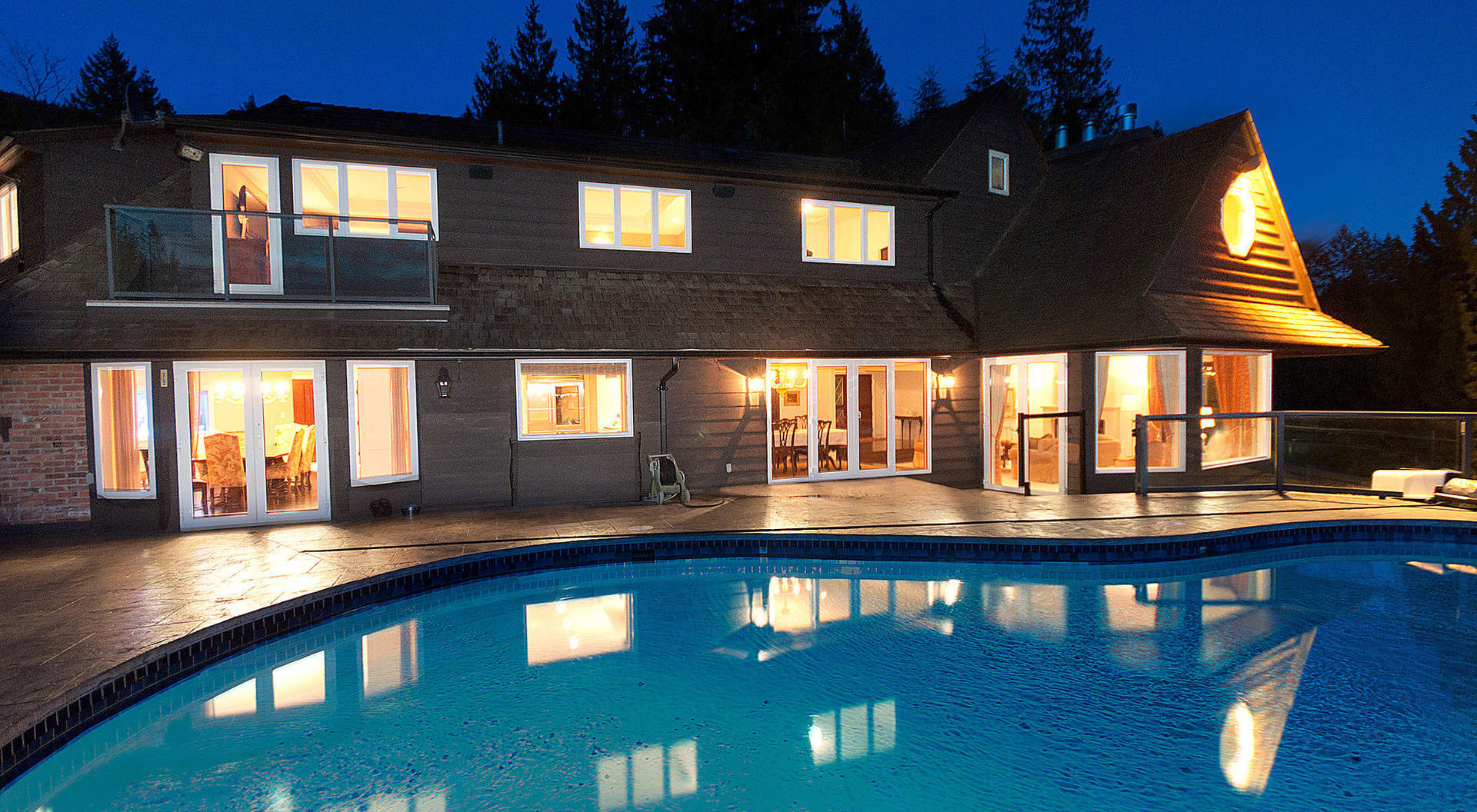 Back of Home, Sparkling Outdoor Pool