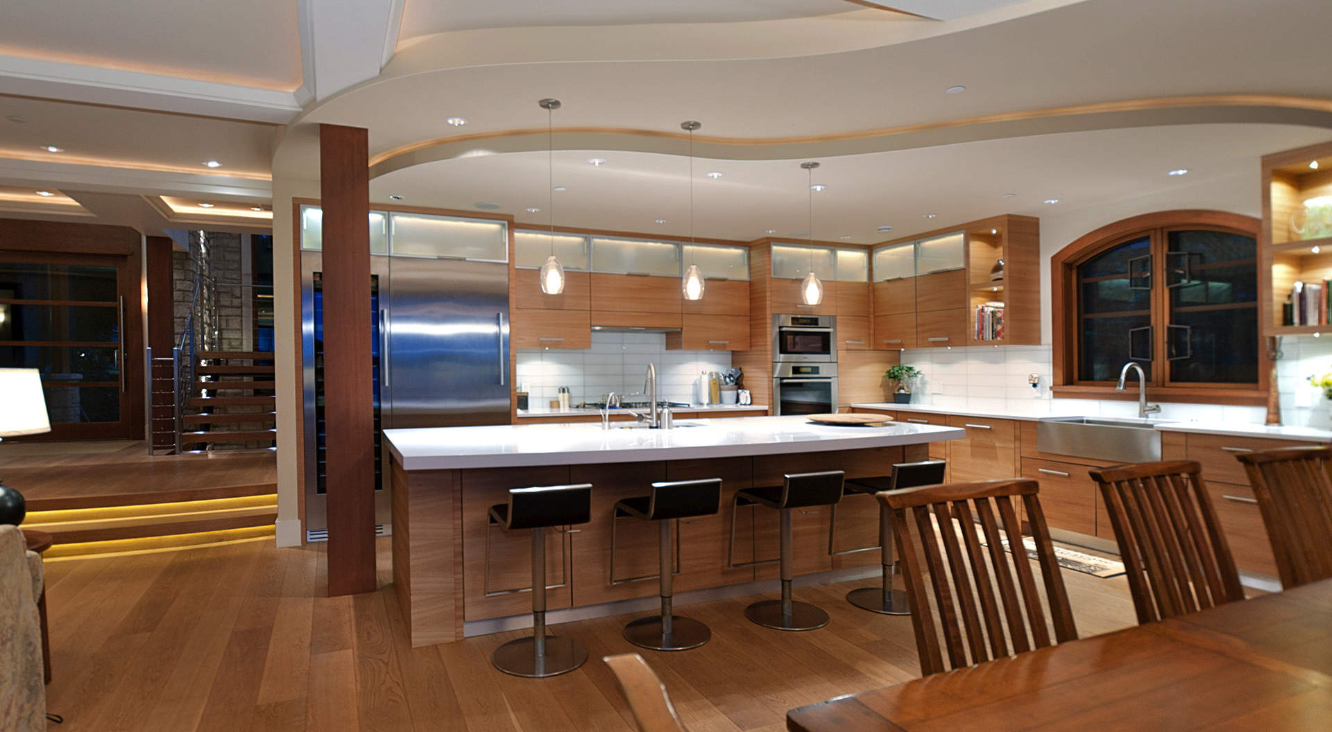 Custom Kitchen with Breakfast Bar