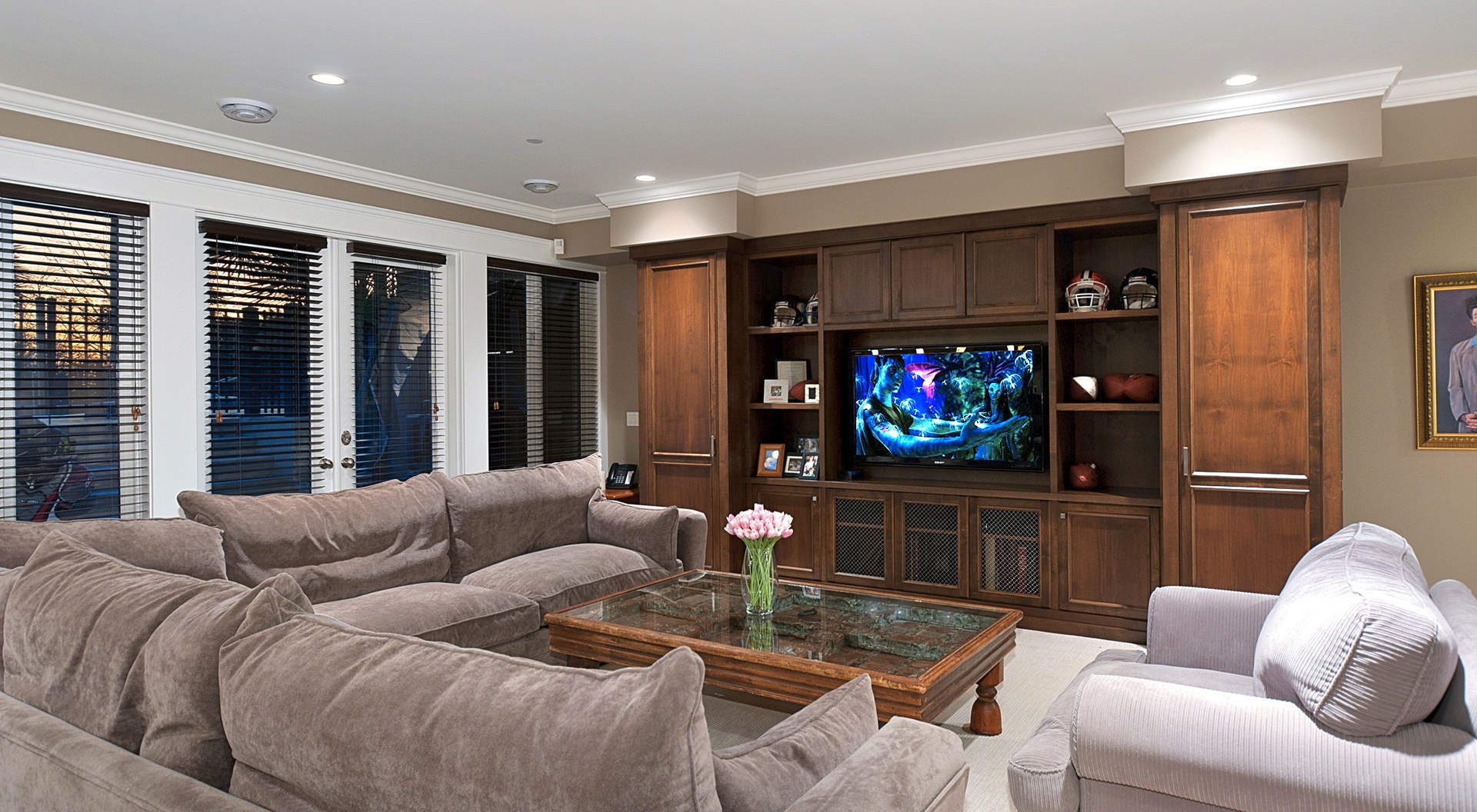 Fabulous Media/ Theater Room Downstairs with Walk-out Access