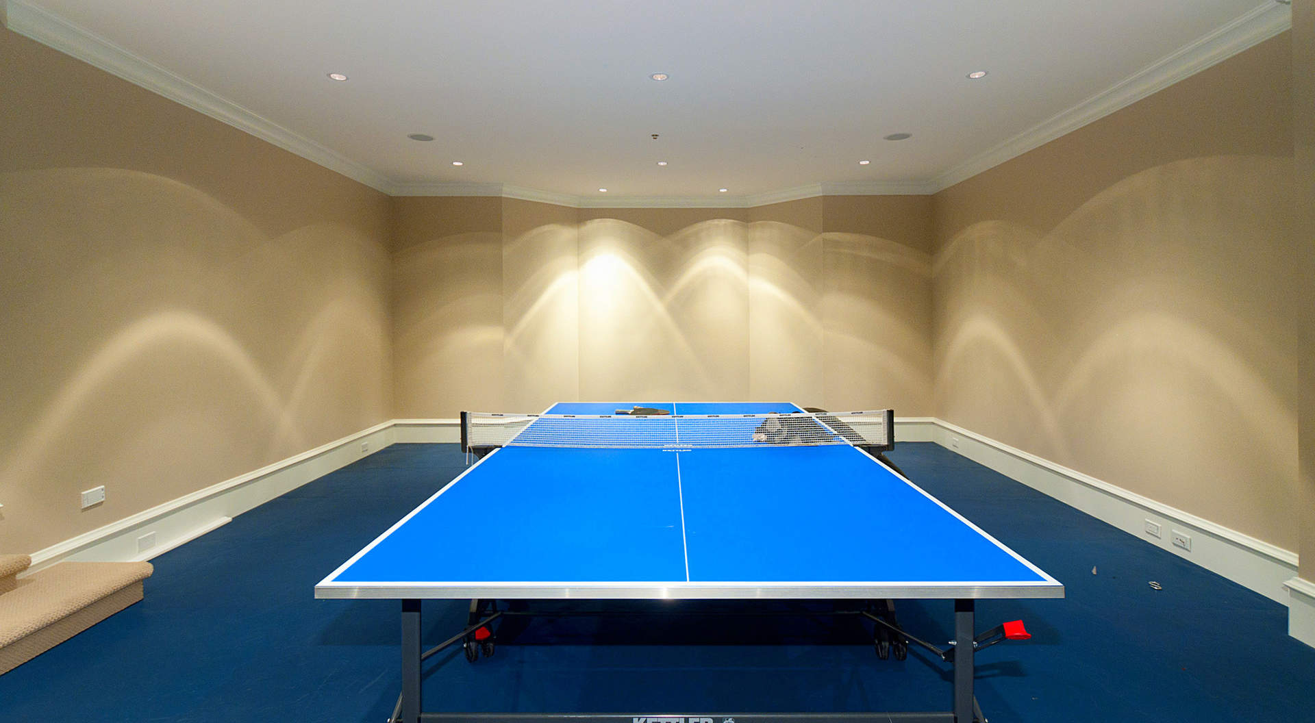 Games Room with Rubberized Flooring