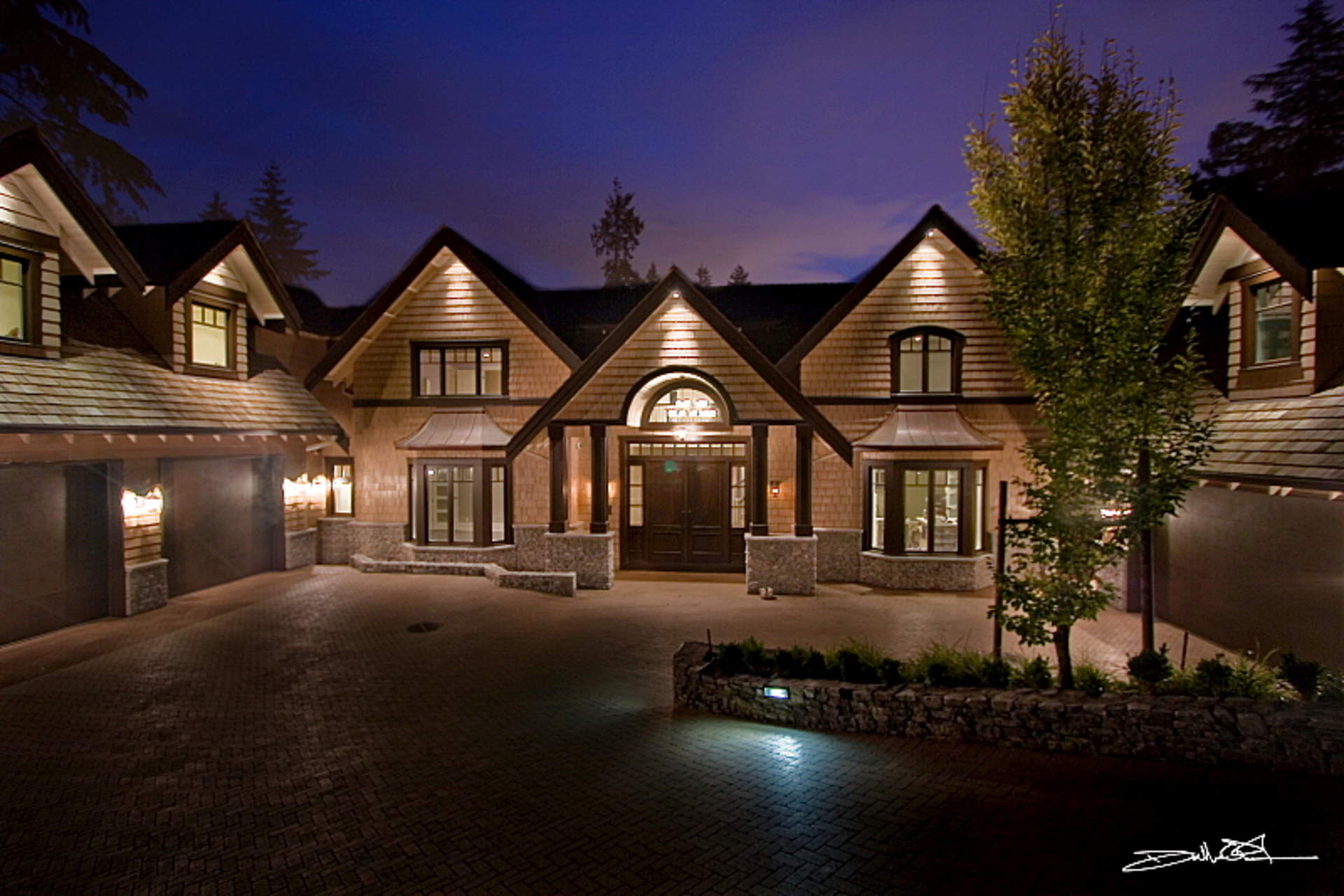 A Stunning Newly Built Residence on a Private .65 Acre Estate in West Bay!