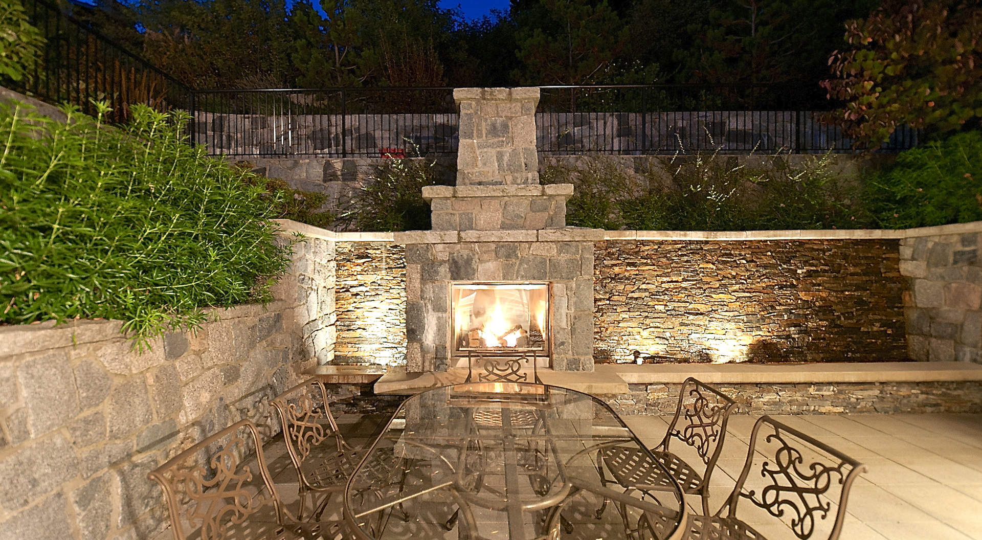 Sensational Outdoor Entertainment Area with Fireplace