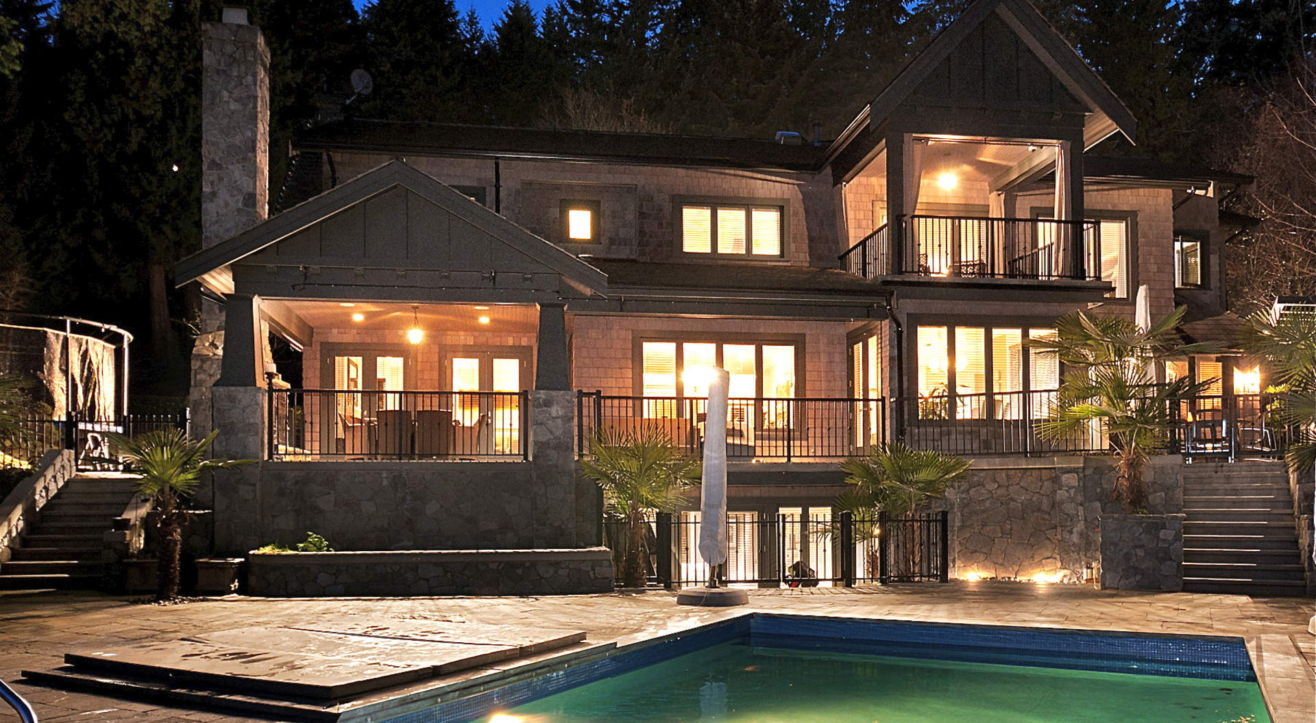 Back of Home with a Beautiful Pool