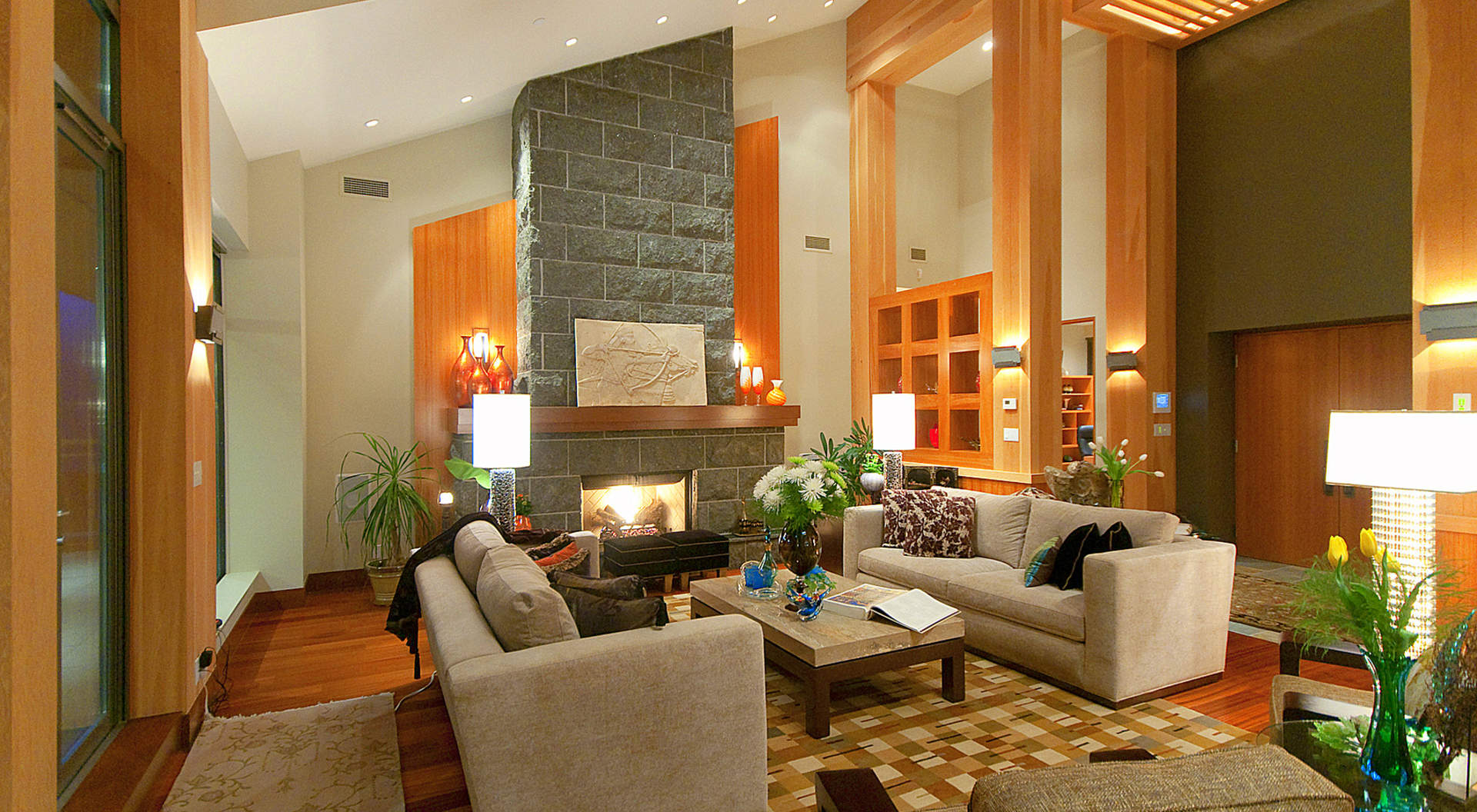 Formal Living Room with Signature Fireplace