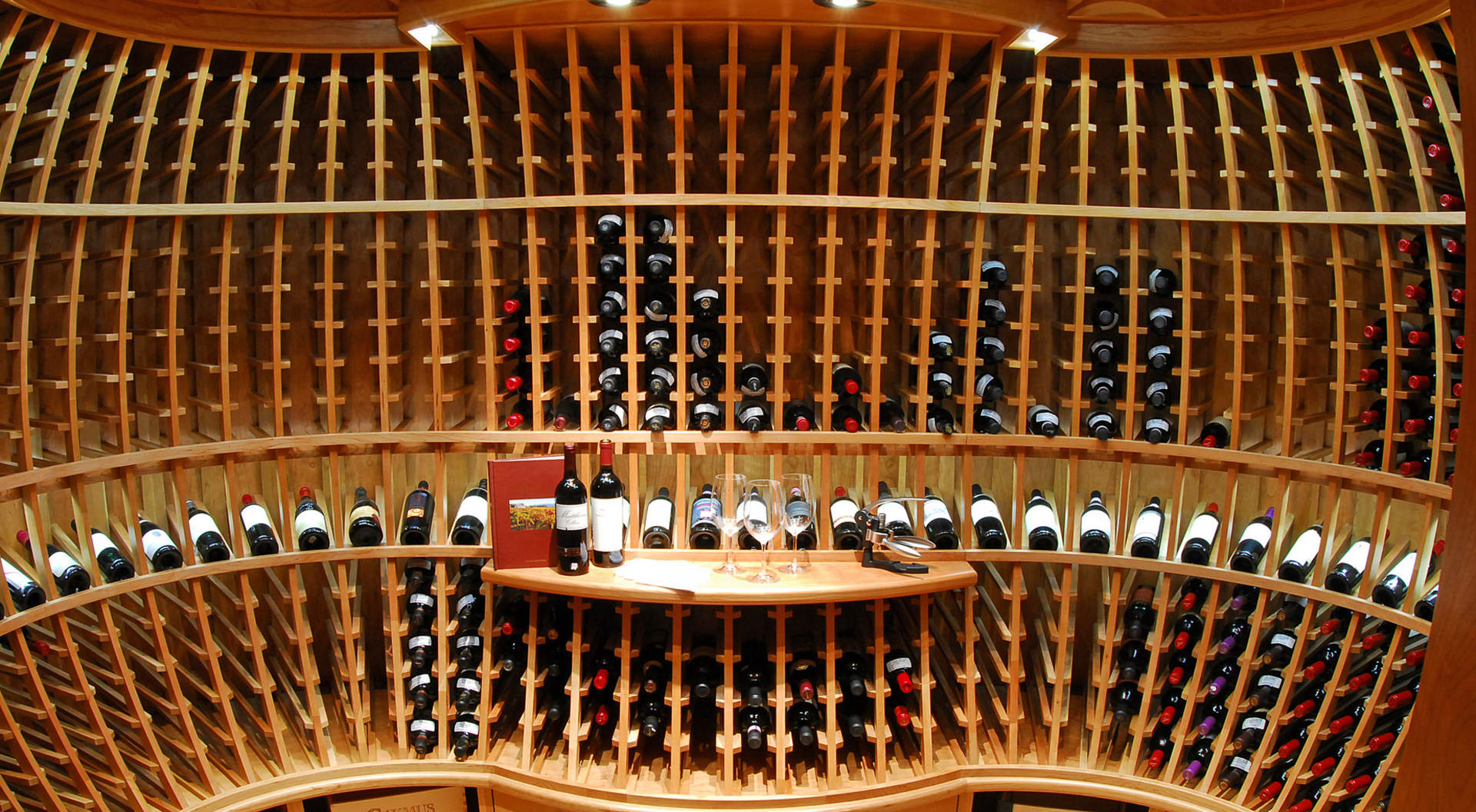 A One-of-a Kind Wine Cellar Equipped with Inventory Control System