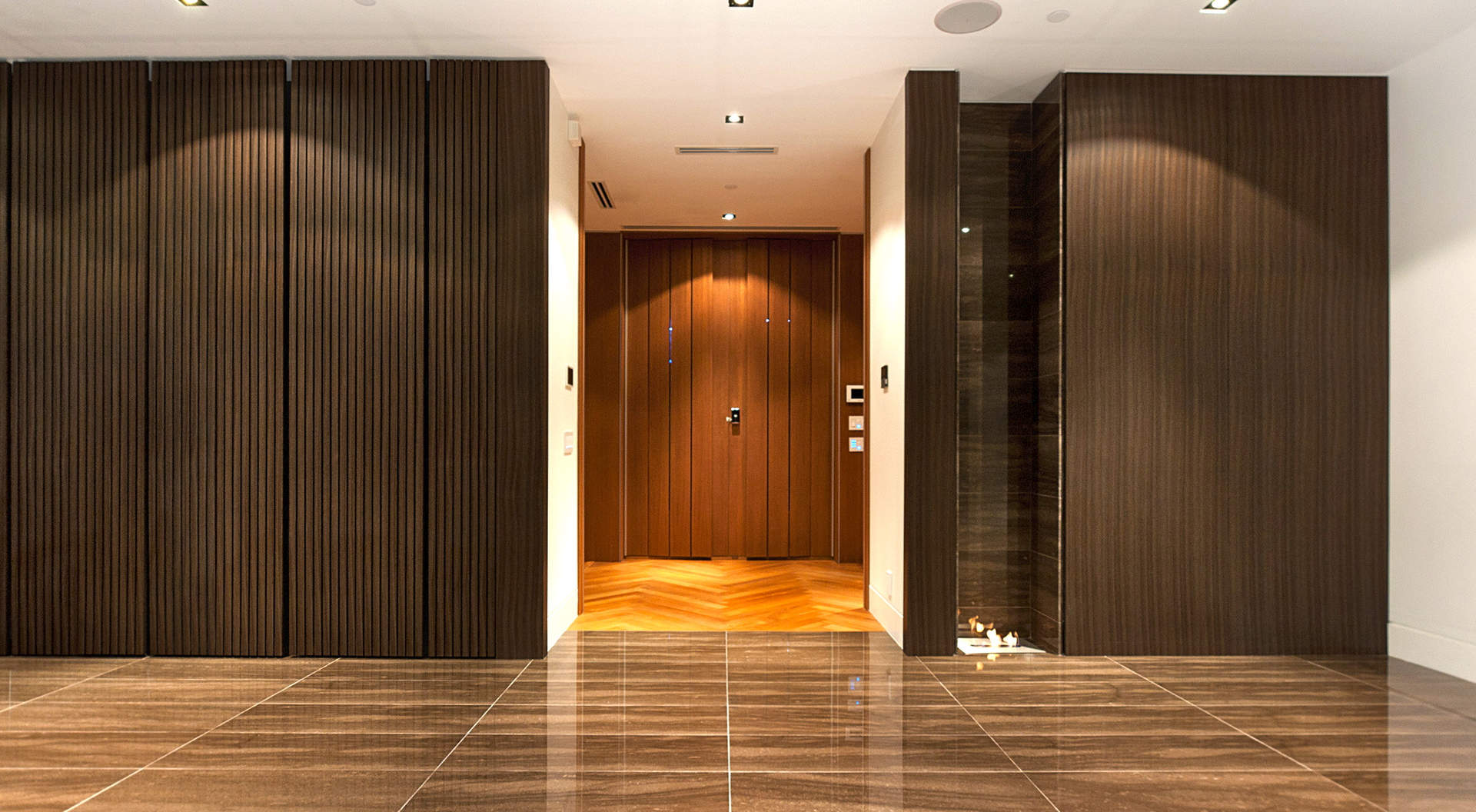 Signature Door with Keyless Entry to a Gracious Foyer