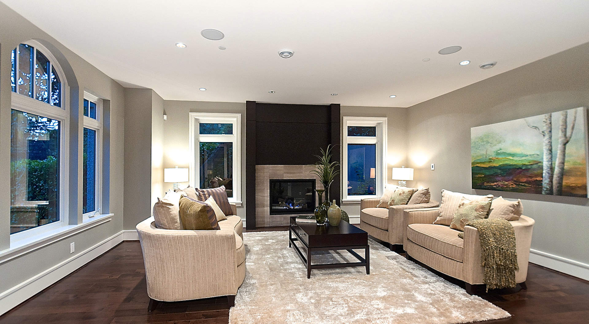 Gorgeous Living Room with Signature Fireplace