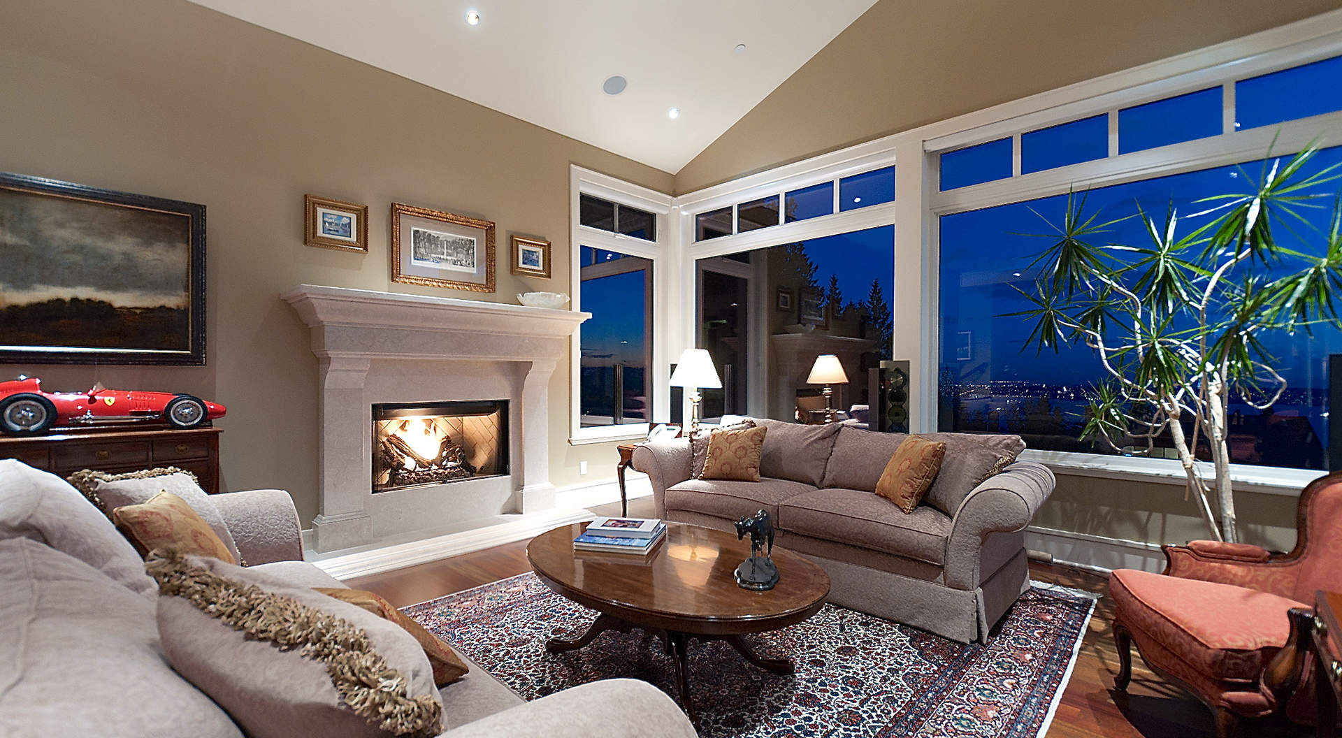 Signature Stone Fireplace
