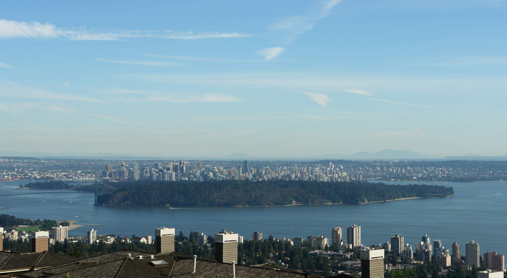 Views of Downtown and Stanley Park