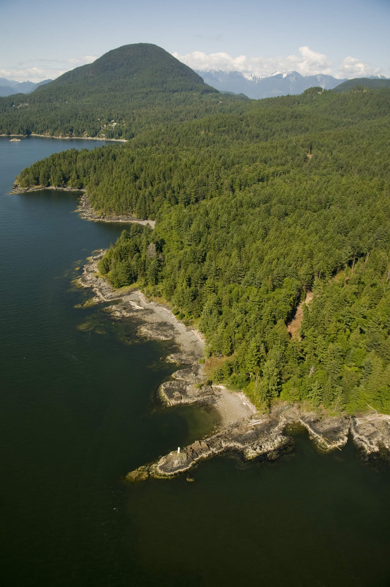 Breathtaking 9.88-acre Low-Bank Waterfront - The Cape on Bowen Island!