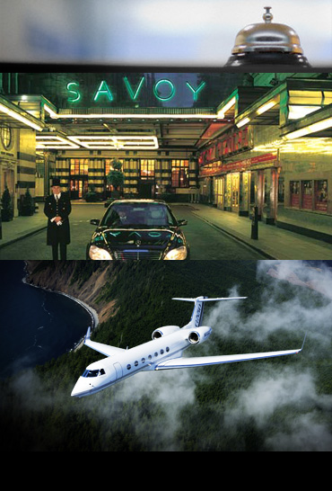 Luxury Hotel and Private Jet Service